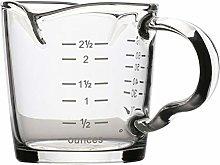 Cabilock Double Spouts Espresso Shot Glass Cup