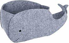 Cabilock Felt Storage Basket Cartoon Whale Shape