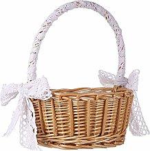 Cabilock Flower Girl Baskets Wicker Woven Basket
