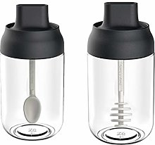 Cabilock Home 2pcs Empty Storage Jars Practical