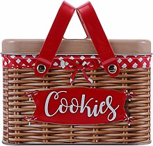 Cabilock Imitation Rattan Hand- held Cookies Box
