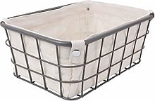 Cabilock Iron Wire Storage Basket with Removable