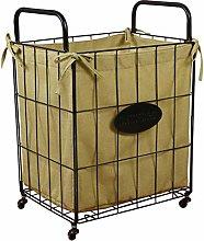 Cabilock Large Laundry Basket on Wheels Metal Wire