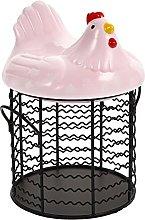 Cabilock Metal Wire Egg Storage Basket with