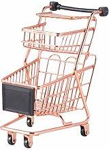 Cabilock Mini 2-Tier Shopping Cart Simulation