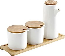Cabilock Porcelain Condiment Jar Set Spice