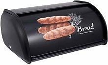 Cabilock Roll-Top Lid Metal Bread Box Bin Kitchen