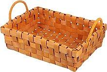 Cabilock Seagrass Storage Basket with Wooden
