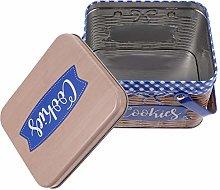 Cabilock Tinplate Cookie Box Candy Jar Snack Box