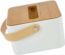 Cabilock Tissue Dispenser Box with Bamboo Lid