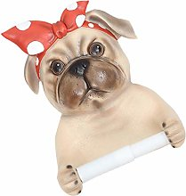 Cabilock Toilet Paper Holder Wall Mount Pug Shaped