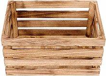 Cabilock Wooden Crate Rectangle Sundries Storage