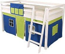 Cabin Bed Mid Sleeper Loft Bunk Tent - Curtain