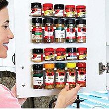 Cabinet Clips Kitchen Spice Organizer Rack