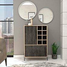 Cabinet Cupboard Sideboard Drinks Bar 2 Grey Oak