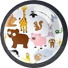 Cabinet Door Knobs Animals Multi Color Designed