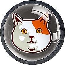 Cabinet Door Knobs Big Head Cat Multi Color
