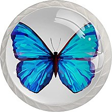 Cabinet Door Knobs Blue Butterfly Multi Color