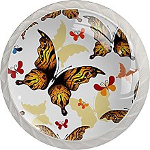Cabinet Door Knobs Color Butterfly Multi Color