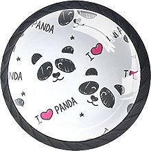 Cabinet Door Knobs Cute Panda Multi Color Designed