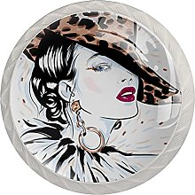 Cabinet Door Knobs Glamour Woman Multi Color