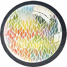Cabinet Door Knobs Handles Pulls Abstract Leaves