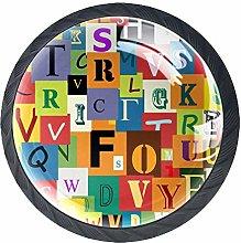 Cabinet Door Knobs Handles Pulls Alphabet for