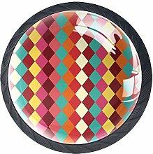 Cabinet Door Knobs Handles Pulls Color Checkered