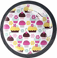 Cabinet Door Knobs Handles Pulls Colorful Cupcake