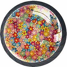 Cabinet Door Knobs Handles Pulls Grunge Colorful