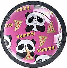 Cabinet Door Knobs Handles Pulls Panda with Pizza