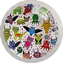 Cabinet Door Knobs Variety Cartoons Multi Color