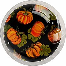 Cabinet Drawer Knobs Farm Pumpkins with Leaves