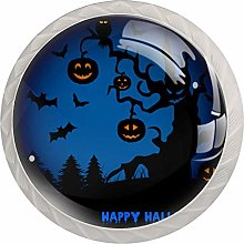 Cabinet Drawer Knobs Halloween Night with Haunted