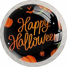 Cabinet Drawer Knobs Happy Halloween with Pumpkins