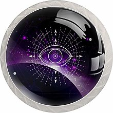 Cabinet Drawer Knobs Mystic Eye with Sunrise and