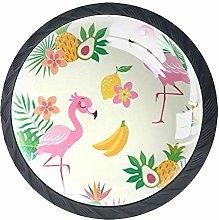 Cabinet Dresser Knobs Flamingo Bird with Tropical