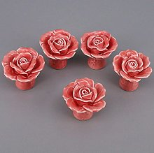 Cabinet Handle Wardrobe Knob Vintage Ceramic Pull
