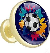 Cabinet Hardware Soccer Ball Blue Desk Drawer