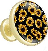 Cabinet Hardware Sunflowers Desk Drawer knobs