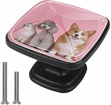 Cabinet Knob Cute Pink Puppy Dresser Cupboard