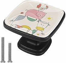Cabinet Knob Farm Animals Dresser Cupboard Drawer