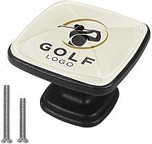 Cabinet Knob Golf Sport Dresser Cupboard Drawer