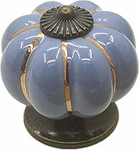Cabinet Knobs 2Pcs 40Mm Ceramic Pumpkin Handle
