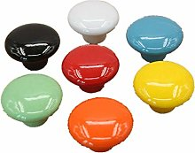 Cabinet Knobs 2Pcs Colorful Ceramic Handle for
