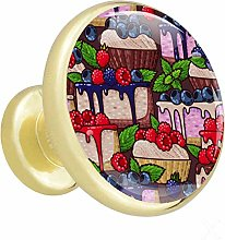 Cabinet knobs 4 Pack Cake Blueberry Strawberry