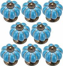 Cabinet Knobs(8Pcs), Colorful Ceramic Handle