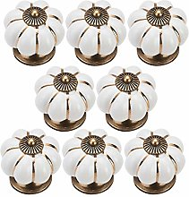 Cabinet Knobs(8Pcs), Colorful Ceramic Handle