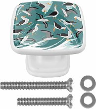 Cabinet Knobs Bird Square Pull Knobs for Drawer