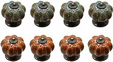 Cabinet knobs,Ceramic Pumpkin Single Hole Handle